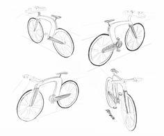 dessin bike sketches vélo design électrique