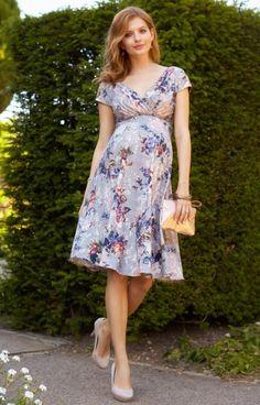 Robe de grossesse Alessandra mi-longue Bouquet Vintage by Tiffany Rose