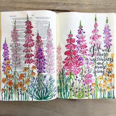 """Bible journaling garden 160 Likes, 19 Comments - Linaya Bunbury (@belief_and_eden) on Instagram: """"""""For as the earth brings forth its sprouts, and as a garden causes what is sown in it to sprout up,…"""""""