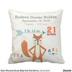 Boy's Nursery Room Baby Stat Fox Arrow Pattern