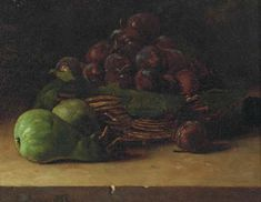 Nature morte au panier de prunes 1866