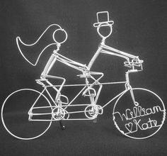 THE ROYAL WEDDING Personalized Tandem Riders by HeatherBoydWire, $99.00