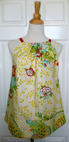 Pillowcase Dress! With ribbon on top