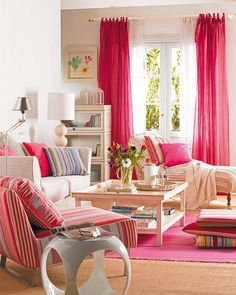 Raspberry Cream Living Room