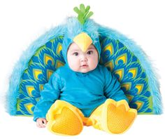 too adorable!  Furry Blue Precious Peacock Baby Costume Baby Animal Costumes - Mr. Costumes