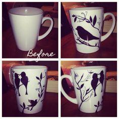 Sharpie mug...seriously?! Love it! Someone make me one pleaseee