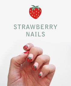 Sweet Strawberry Nail Tutorial | Wonder Forest: Design Your Life.