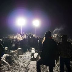 January 16 2017 (MLK Day) was a day of action. Hundreds of Water Protectors gathered on Backwater Bridge to show their support. -Heather  #standingrockreservation #trystanfoundation #mniwiconi #waterprotectors #nodapl #northdakotapipeline #northdakota #protest #environmentalism #environmentalist #waterislife #rezpectourwater #standwithstandingrock #mlkday2017 #mlkday #backwaterbridge #lights #waterprotectors #TrystanFoundation Trystan Foundation Pic Photo