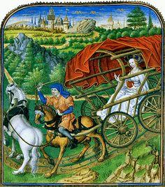 Miniature de Jean Tavernier dans le manuscrit de René d'Anjou, Le Mortifiement de Vaine Plaisance, 1455. Интересное и забытое - быт и курьезы прошлых эпох.