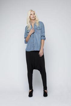 Tencel denim shirt and Bamboo Balette pants- made in Australia