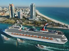 CARNIVAL VALOR CRUISE SHIP passes MIAMI BEACH
