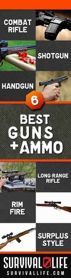 Choosing the Best Guns and Ammo | Best Choices for Firearms and Ammunition By Survival Life http://survivallife.com/2014/10/13/best-guns-and-ammo/