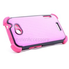 $11.95 > 10% Coupon Code : Pinthis Pink X Shield Double Layer Hard Case Gel Cover For HTC One X