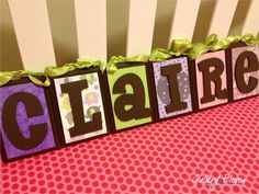 Personalized Wood Letters  Name Blocks for Baby  by GalleryEleven, $60.00