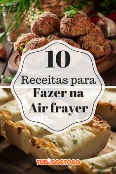 Tem churrasco, bolinha de arroz, churros… Venha ver 10 receitas para fazer na air fryer! Vegan Foods, I Foods, Cooks Air Fryer, Air Frier Recipes, Good Food, Yummy Food, Salty Foods, 30 Minute Meals, No Cook Meals
