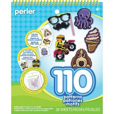 Perler-Pattern Pad: Stripe Bead Designs. The perfect addition to your pegboard arts and crafts kit. Choose from over 100 pre- designed patters or draw your own for hours of creative fun! Contains one