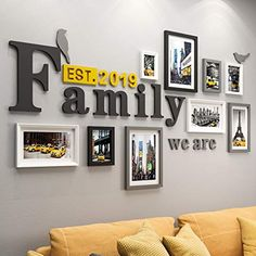 Find the biggest selection of Wall & Tabletop Frames from Photo Wall at the lowest prices. Photo Wall Decor, Family Wall Decor, Room Wall Decor, Living Room Decor, Diy Wall Decor, Frames On Wall, Wall Collage, Deco Restaurant, Colorful Playroom
