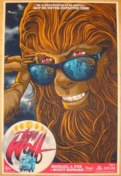 """Teen Wolf - silkscreen movie poster (click image for more detail) Artist: Gary Pullin Venue: n/a Location: n/a Date: 2012 Edition: 165; numbered Size: 24"""" x 36"""" Condition: Mint Notes: this silkscreen"""