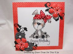 The Cat Ate My Card: Dies R Us Challenge- Use Handmade Flowers!