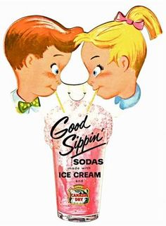 Canada Dry Sodas with Ice Cream 1950 60's Cardboard  Sign