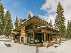 10910 Almendral Ct, Truckee, CA 96161 - realtor.com® Rustic Home Design, Modern House Design, Cabin Homes, Log Homes, Casa Hotel, Modern Mountain Home, Mountain Living, Mountain Home Plans, Cabin In The Woods