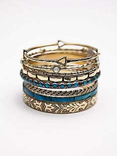 Best of the Best Hard Bangles | The perfect mixture of different patterned, shaped, and colored bangles.  Wear one or wear them all!  *By Free People