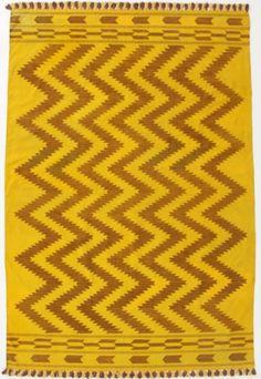 Yellow rug.