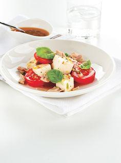 Salade caprese au tofu soyeux Recettes   Ricardo