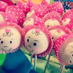 Cake pop baby shower by Fiestas de Fantasia