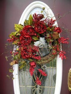 Spring Wreath Summer Wreath Grapevine Door by AnExtraordinaryGift~❤