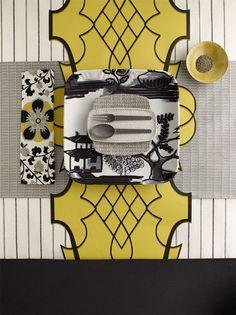 Color Stories by the photographer Sarah Hogan ♥ Цветни истории от фотографката Сара Хоган | 79 Ideas Asian Flatware, Flatware Set, Table Setting Inspiration, Color Inspiration, Table Place Settings, Yellow Table, Shades Of Yellow, Color Stories, Mellow Yellow