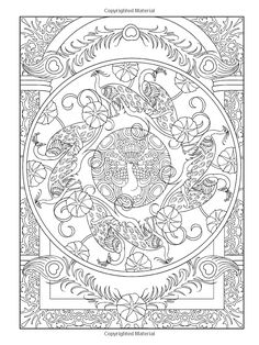 Marty Noble's Mindful Mazes Adult Coloring Book: Art Nouveau Animals: 48 Enga...