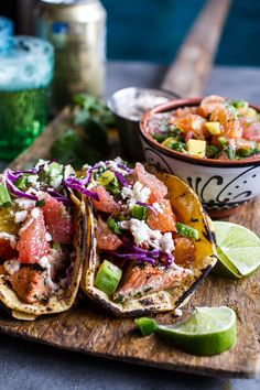 Cuban Fish Tacos with Citrus Mango Slaw + Chipotle Lime Crema |#whoshungry