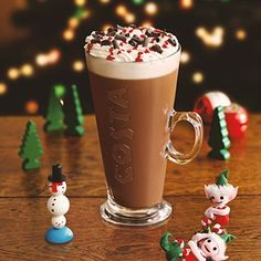 A little early to pin it but I'm already hoping this will be back this winter! Christmas Coffee, Christmas Drinks, Christmas 2014, Christmas Treats, Chocolate Cookie Bars, Hot Chocolate Recipes, Christmas Competitions, Costa Coffee, Christmas Campaign