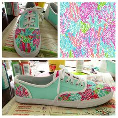Lilly Pulitzer handpainted Keds