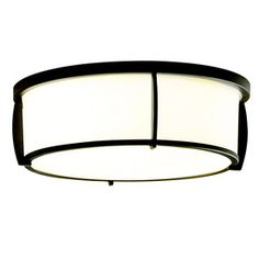 allen   roth 12.91-in W Oil-Rubbed Bronze Ceiling Flush Mount