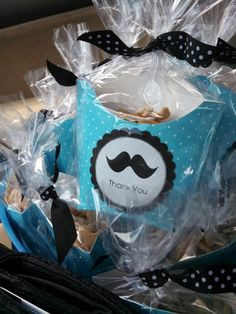Mustache themed favors