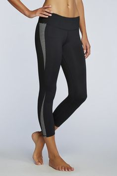 Black and white stripes on the side add a stylish flair! |Salar Capri - Fabletics