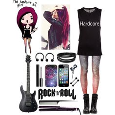 The Hardcore Girl 2 Created By Naibee17 On Polyvore Punk Rock Outfits Band