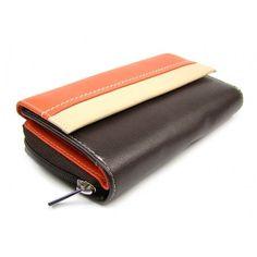 Hnědá peněženka dámská kožená - peněženky AHAL