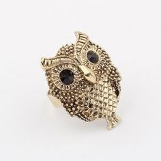 $1.53 Retro Style Chic Owl Shape Alloy  Women's Finger Ring