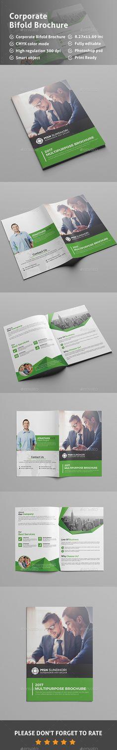 Bi Fold Brochure Template Corporate Brochure Template by Pixelpick. Bi Fold Brochure, Brochure Layout, Brochure Design, Brochure Template, Corporate Brochure, Business Brochure, Business Flyer, Business Marketing, Medical Brochure