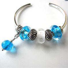 Aqua Dangle Made from A Scott Bouwens bead!