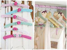 Ах, какие плечики! Прекрасные идеи декора вешалок для одежды - Ярмарка Мастеров - ручная работа, handmade