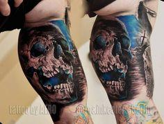 Tattoo-Foto: Aero lässt die Toten lachen