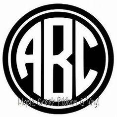 Cricut Monogram Font, Vine Monogram Font, Embroidery Monogram Fonts, Circle Monogram, Monogram Frame, Initial Letters, Free Printable Monogram, Free Monogram, Engraving Fonts