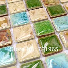 Cilalı porselen duvar karoları mozaik mutfak backsplashl karo PCMT109 banyo yer karoları seramik mozaik fayans