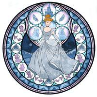 Princess Cinderella - Kingdom Hearts Stain Glass by reginaac57