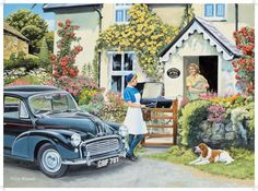 Shop Bits and Pieces jigsaw puzzle store for kids and adults! The district nurse makes a house call for a new mother 300 large piece jigsaw by Trevor Mitchell measures 18 x Ravensburger Puzzle, Artist Canvas, Canvas Art, Puzzle Store, Nostalgic Art, Puzzle Art, Retro, Happy Day, Vintage Art