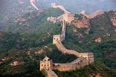 Great Wall of China: is the longest man-made structure ever built, started almost 2000 years ago.